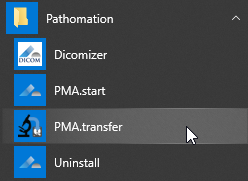 How to launch PMA.transfer